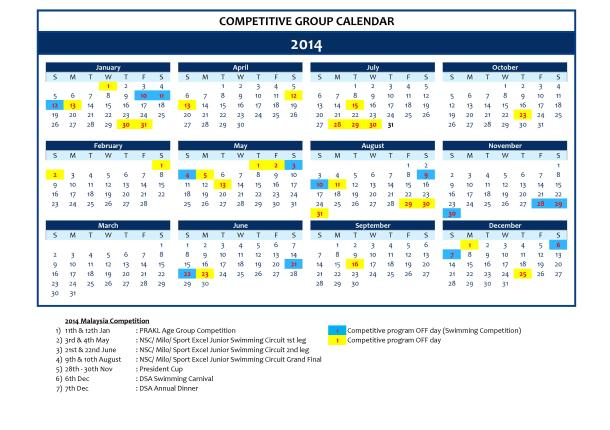 DSA Competitive Calendar 2014